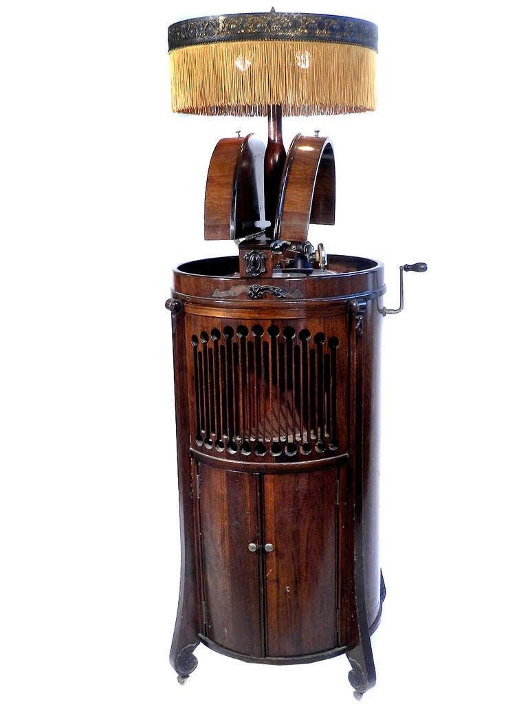 Round Modernola Floor Lamp Victrola - Super Rare at 1stdibs