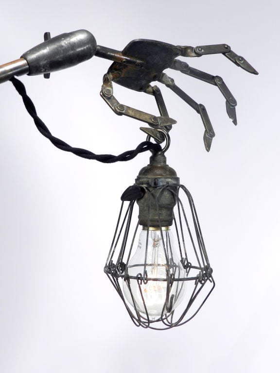American Striking and Bizarre Hand Table Lamps For Sale