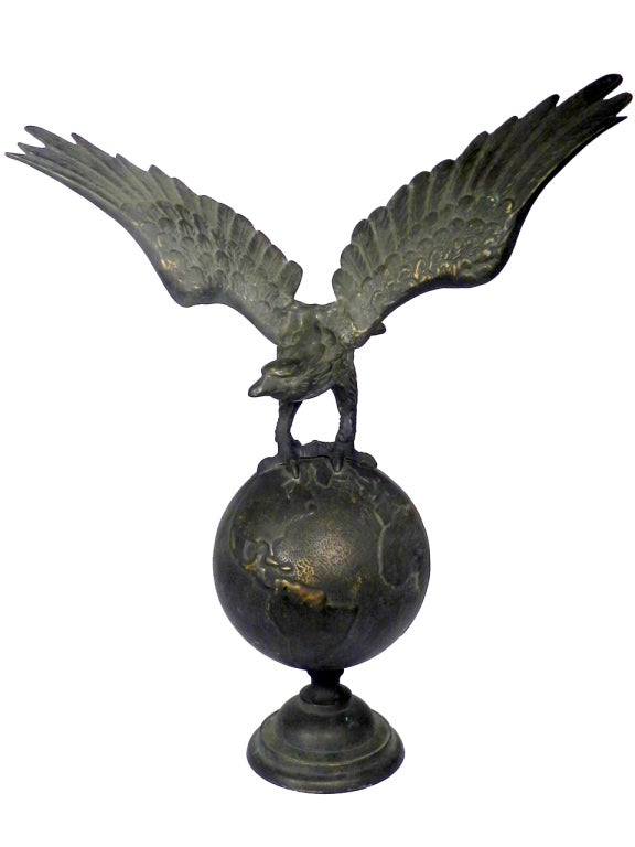 Rare oversized bronze flag pole eagle at stdibs