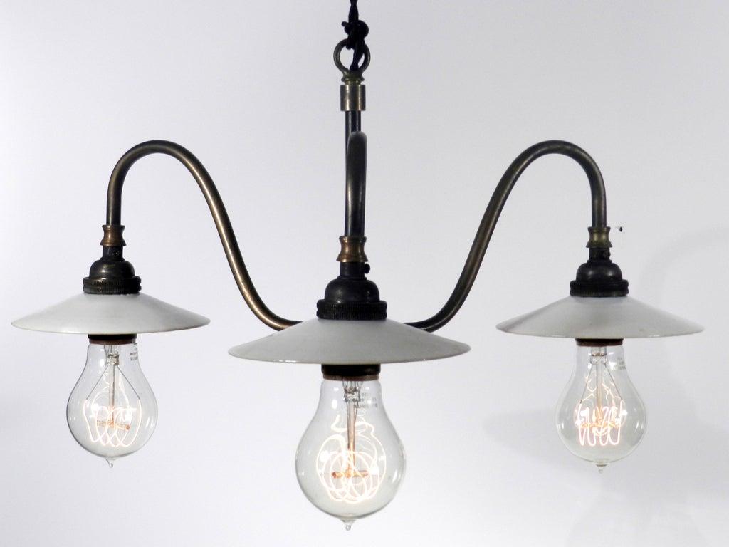 steuben gold aurene shade mini chandelier at 1stdibs. Black Bedroom Furniture Sets. Home Design Ideas