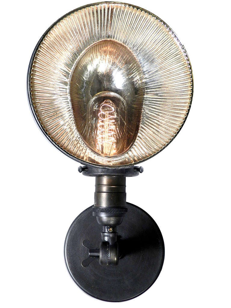 Small Mercury Glass Articulated Sconce At 1stdibs