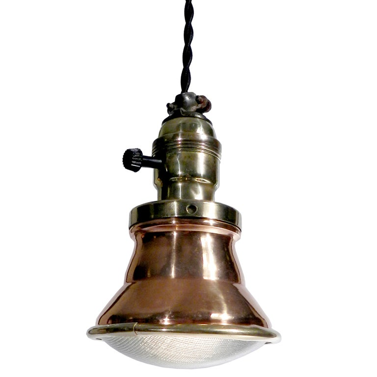 Collection Of 12 Copper And Brass Pendant Lamps At 1stdibs