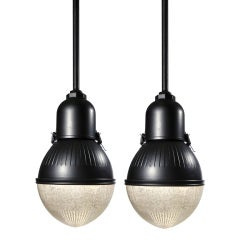Beautiful pair of Large Egg Shaped Street Lamps