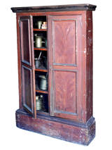 Hand Painted Farm Cupboard At 1stdibs