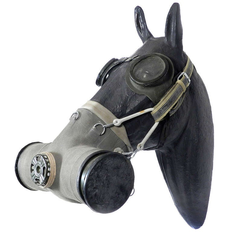 Horse Gas Mask 1950s 1960s At 1stdibs