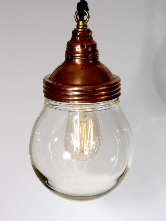 20th Century Benjamin Copper Explosion Proof Lamps - Matching pair. For Sale