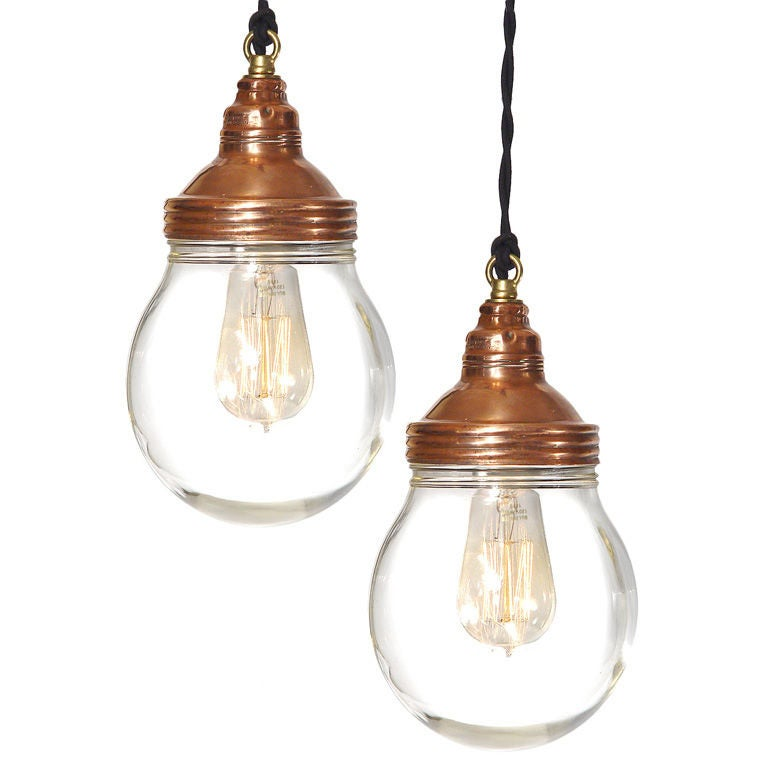Benjamin Copper Explosion Proof Lamps - Matching pair. For Sale