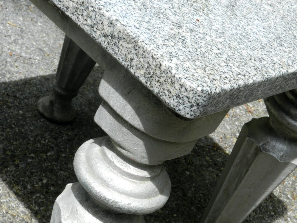 small cast iron and granite table at 1stdibs