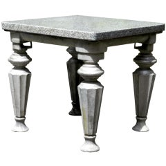 Small Cast Iron and Granite Table