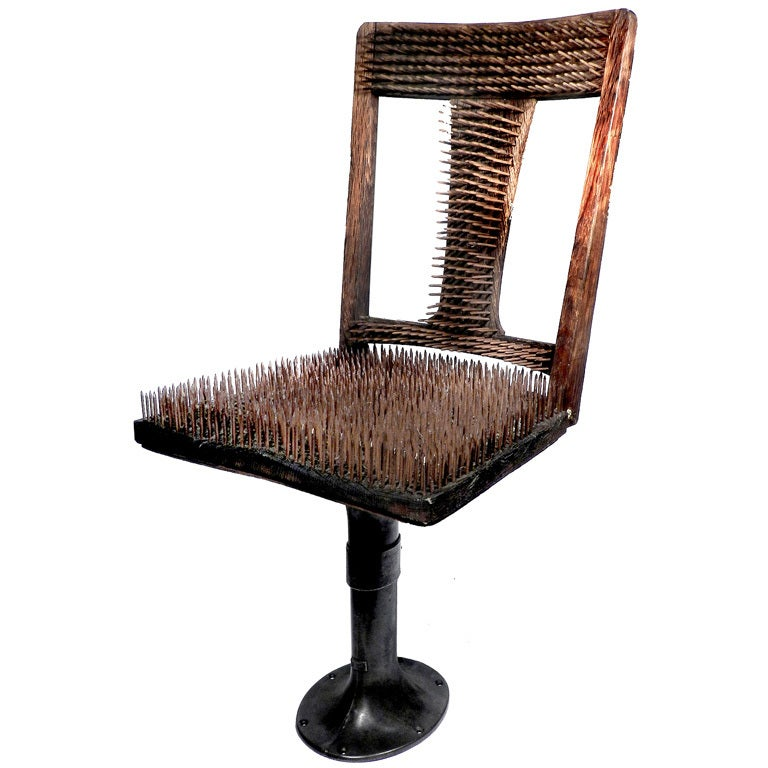 chair of nails the worlds most uncomfortable chair at 1stdibs