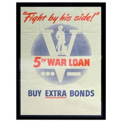 Fight By His Side - War Bond Poster