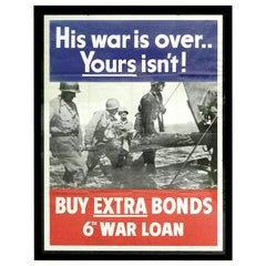 His War Is Over - War Bond Poster