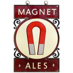 Large Porcelain Double-Sided Magnet Ale Pub Sign