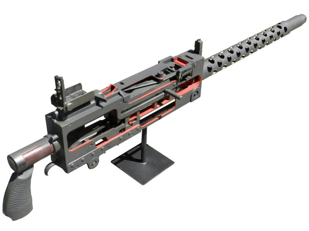 Oversize Model 1919 Machine Gun Instructional Cutaway At