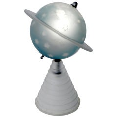 1939 Worlds Fair Frosted Glass Saturn Lamp.
