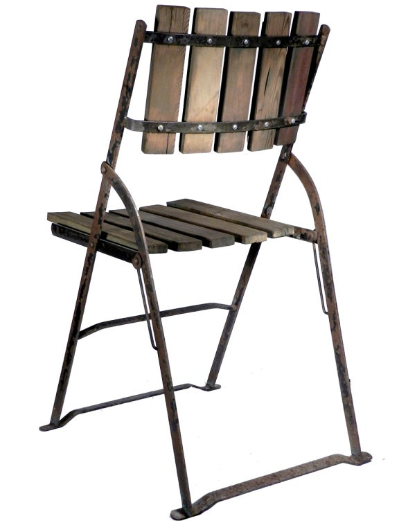 Collection Of Early Bistro Folding Chairs At 1stdibs