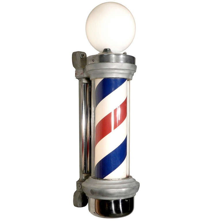 Deco Barber Pole Restored And Working At 1stdibs