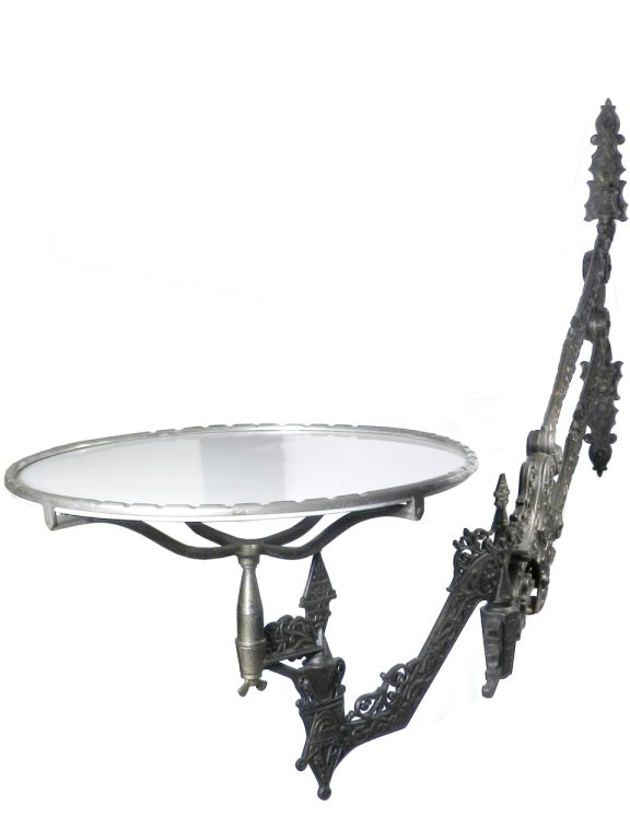 Outrageous 1800s Gothic Articulated Dental Wall Table At