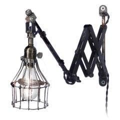 Unique Articulated Scissor Cage Lamp