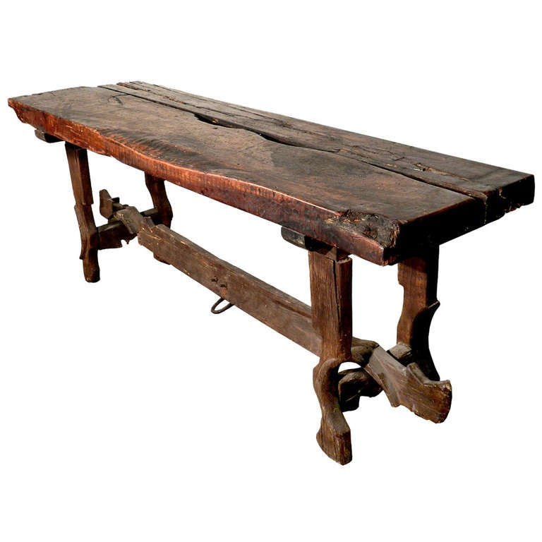 Rustic Farm Table Legs and Stretcher From Tandem Horse  : 966292l from www.1stdibs.com size 768 x 768 jpeg 45kB