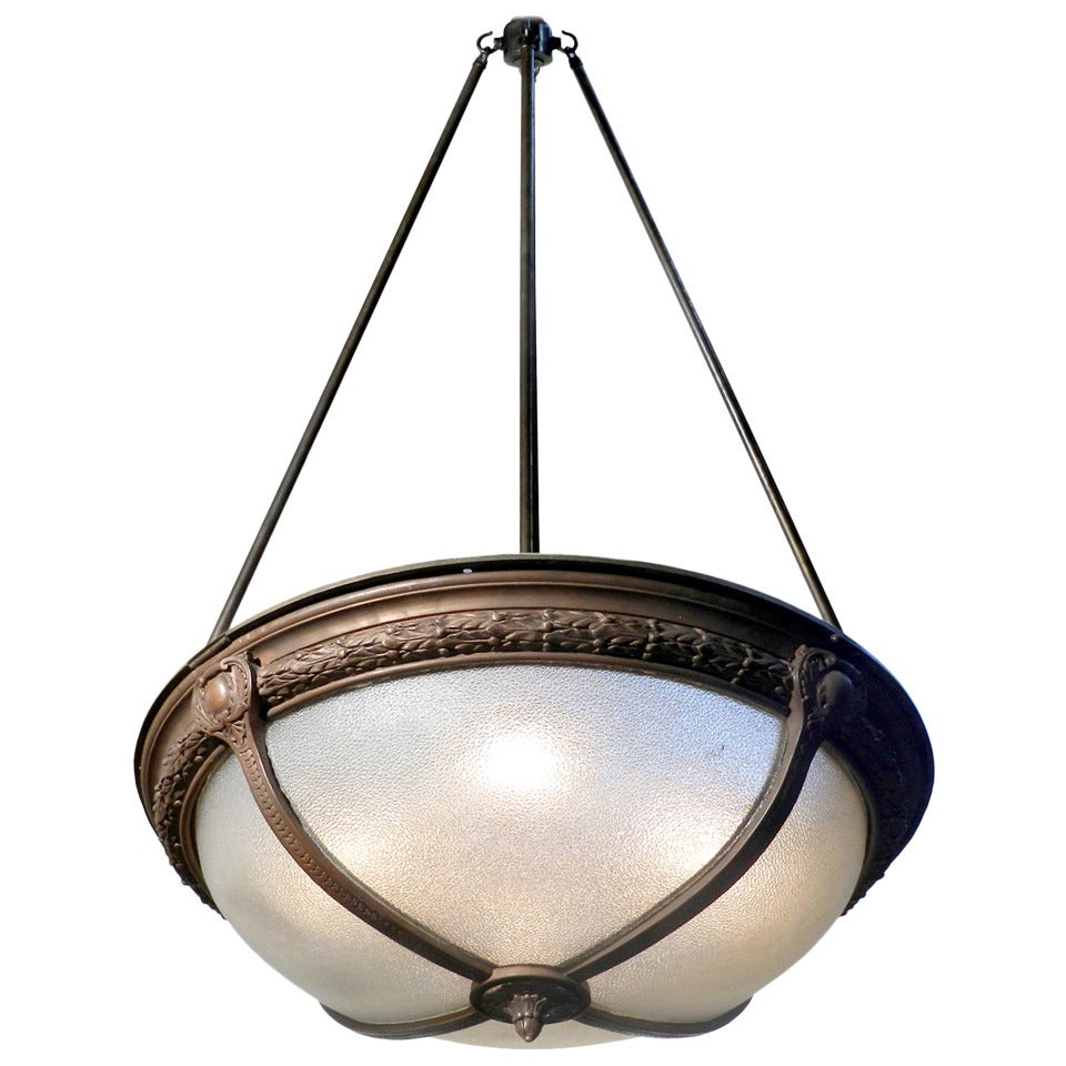 Pebbled glass theater dome light at 1stdibs pebbled glass theater dome light 1 arubaitofo Gallery