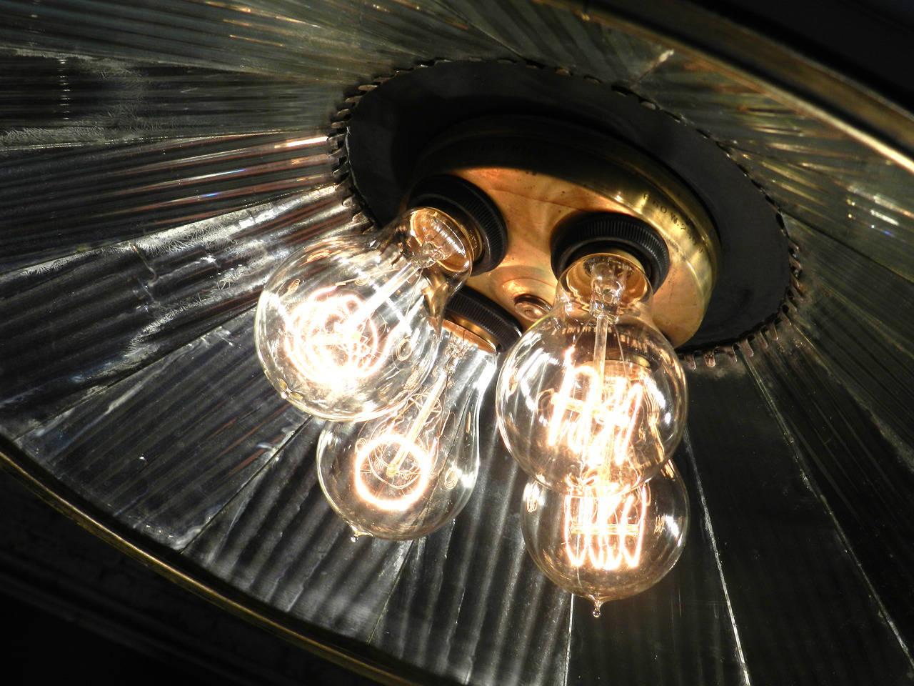 Rare I P Frink Mirrored Lamp At 1stdibs