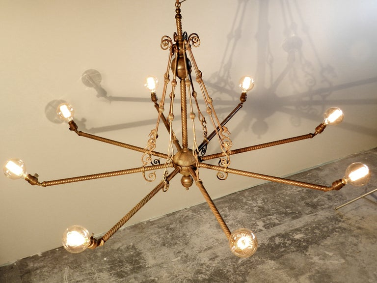 Early Edison Dragon Chandelier 5 Foot Diameter at 1stdibs