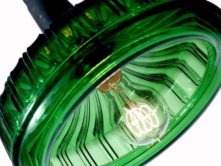 1800s Emerald Glass Dental Sink Pendant Lamp At 1stdibs