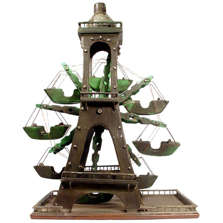 Folk Art Eiffel Tower Ferris Wheel