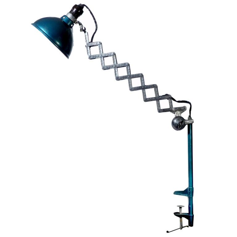 Nicely Detailed Desk Scissor Lamp at 1stdibs