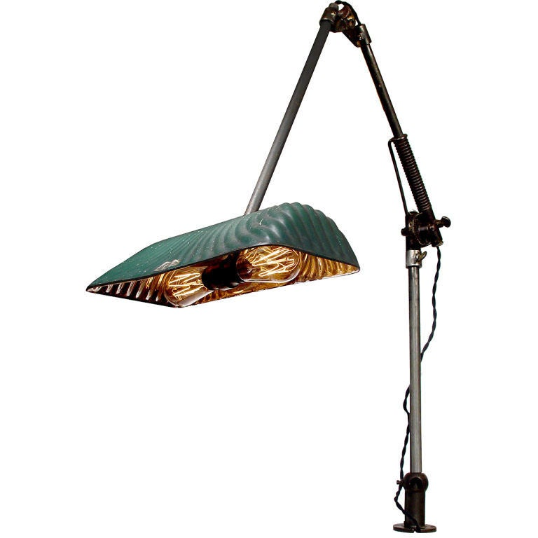 Wall Desk Lamps : Rare Industrial Articulated Wall/Desk Lamp at 1stdibs