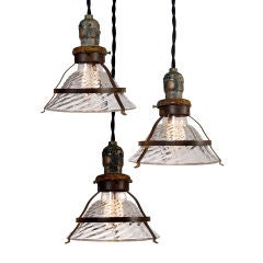 Small Clear Snap-In Shade Industrial Pendant Lamp