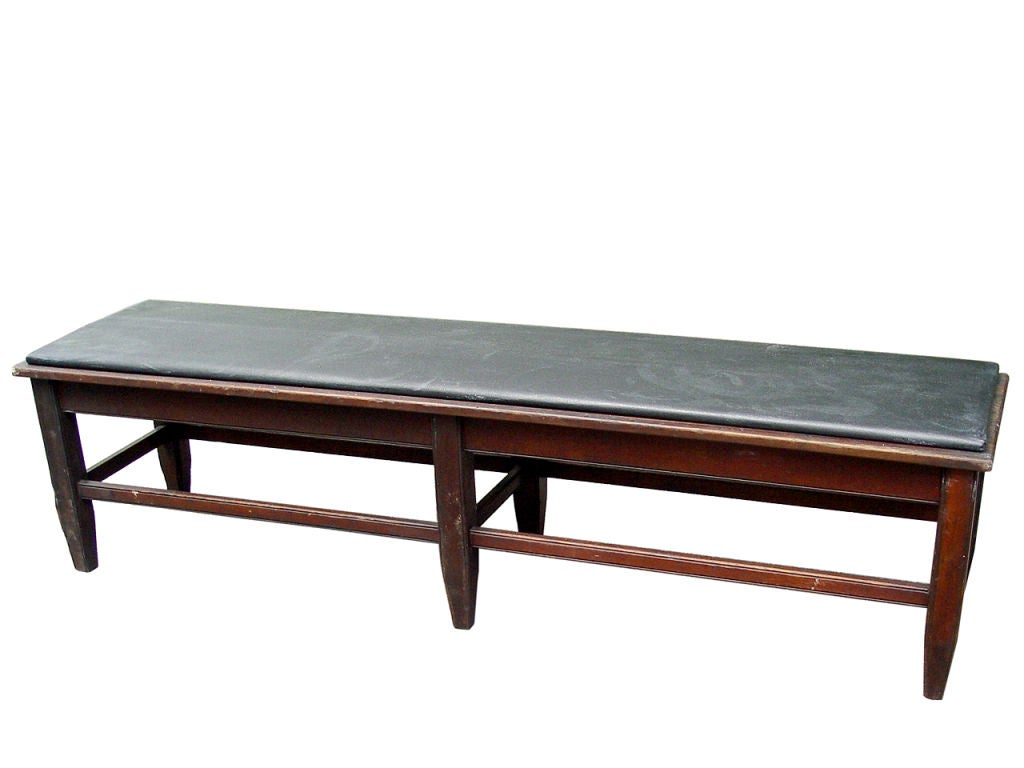 1910 Locker Room Long Bench At 1stdibs