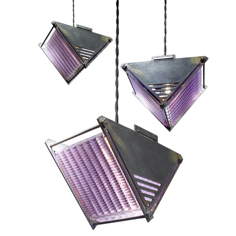 Luxfer Prism Glass Lamps