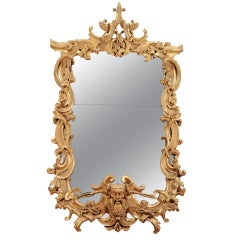 A Magnificent Pair Of Giltwood Mirrors From Palazzo Cenci