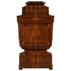 A Magnificent Secretaire Of Lyra Form In The Exotisme Taste