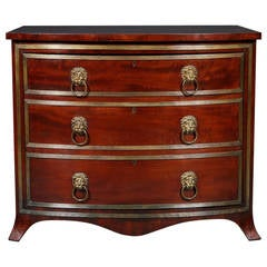 Rare Bow Fronted 'Safe' Cabinet by S. Mordan & Co