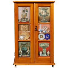 Two Walnut Side Cabinets Mounted with Illustrations of Great Exhibition Objects