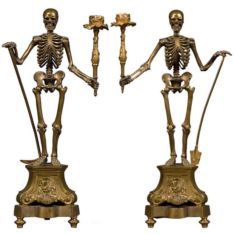 Image result for skeleton candlesticks 19th century