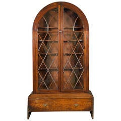 Unusual Mahogany Domed Display Cabinet