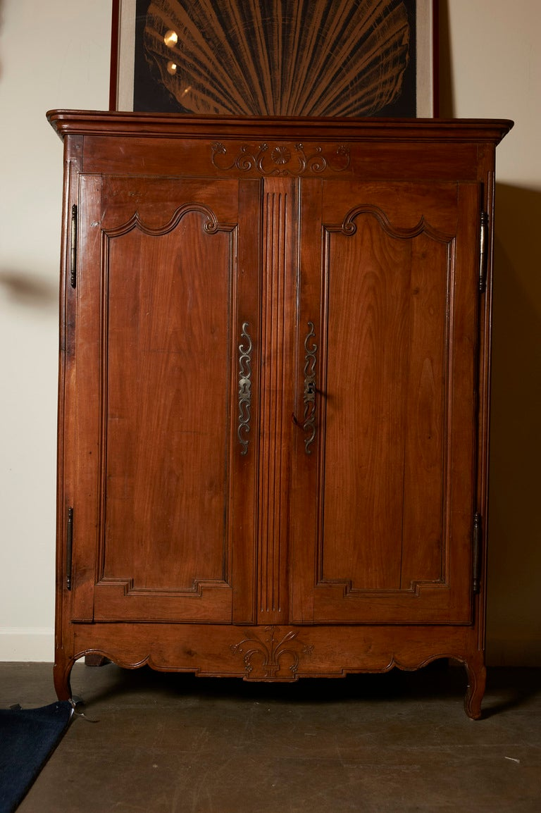 French fruitwood small armoire, c. 1790-1820 at 1stdibs