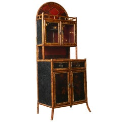 French bamboo etagere, c. 1880-1900
