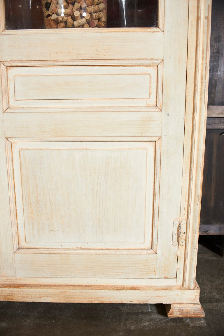 Wood 19th Century French Painted Pine Bibliotheque For Sale