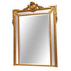 Antique French Louis XVI Gold Mirror