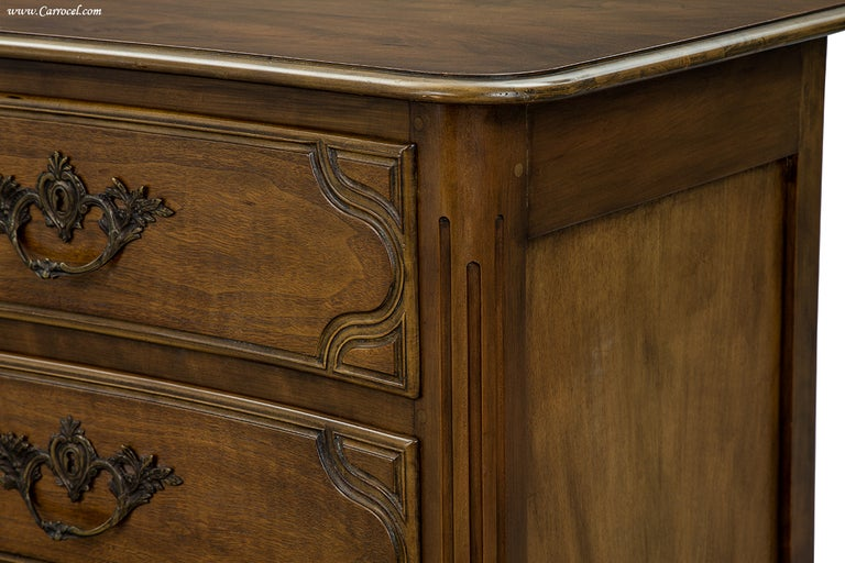 Baker Furniture Walnut Mid Century French Provicinal