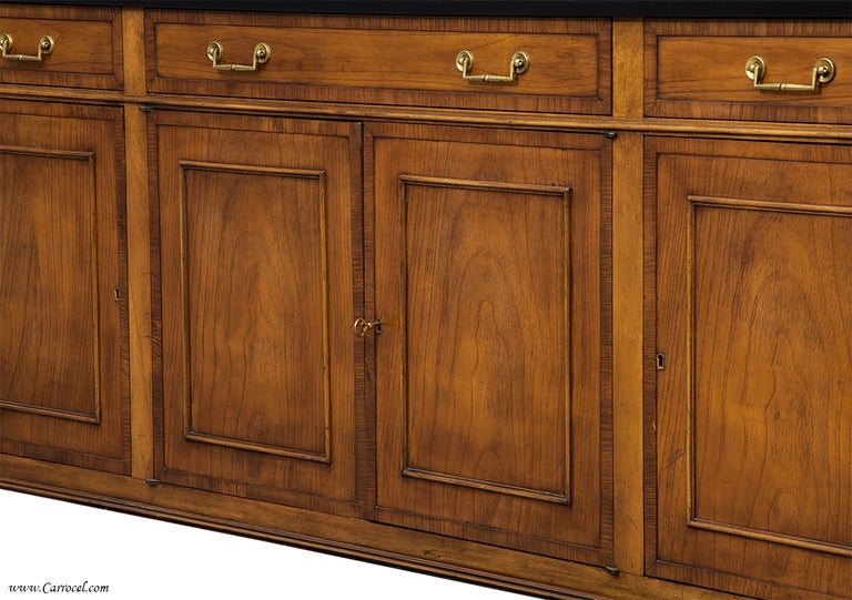 Cherry wood tv entertainment unit credenza buffet