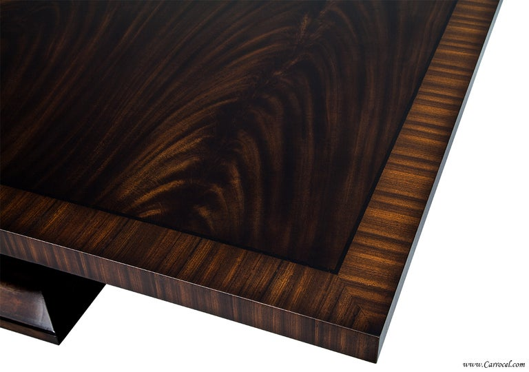 Extraordinary custom made art deco mahogany dining table for Custom made marble dining tables