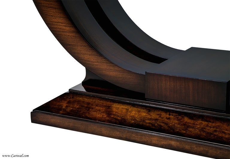 extraordinary custom made art deco mahogany dining table with rosewood banding 4 art deco style rosewood