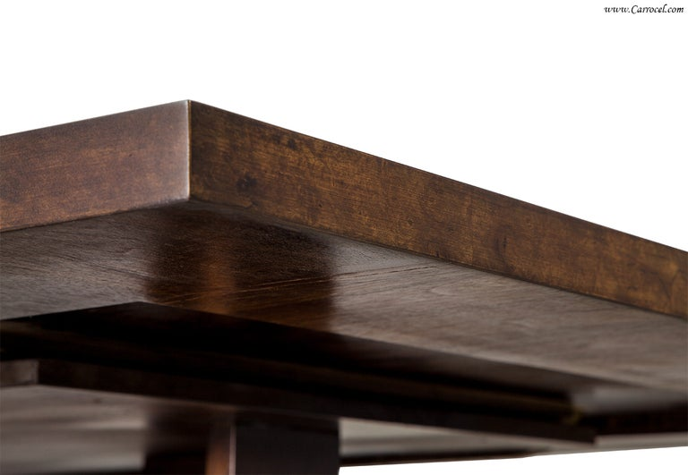 Magnificent Modern Custom Made Art Deco Walnut And Burled Walnut