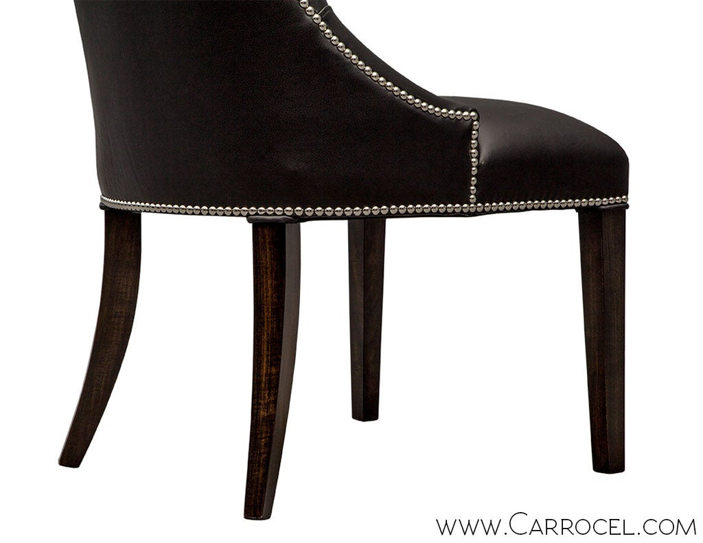 Modern Black Leather Dining Chairs Chair